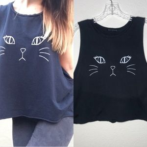 Brandy Melville Cat Muscle Tank Top Loose Fit